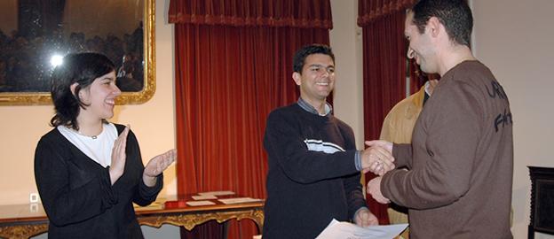 Carisa Marcelino e Rui Barata com Paulo Jorge Ferreira