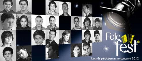 Lista de participantes do Concurso – Folefest 2012