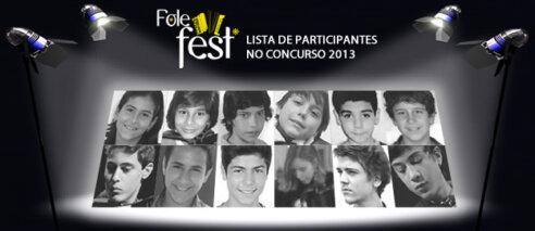 Lista de participantes no concurso Folefest 2013