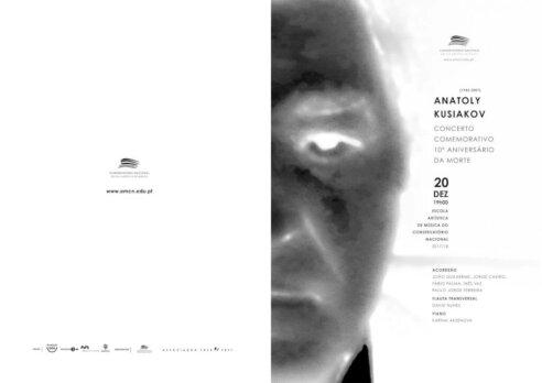 Anatoly Kusiakov – Programa Concerto